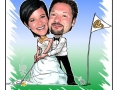 GolfEtikett Karikatur Caricature