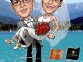 HochzeitKrug400 Karikatur Caricature